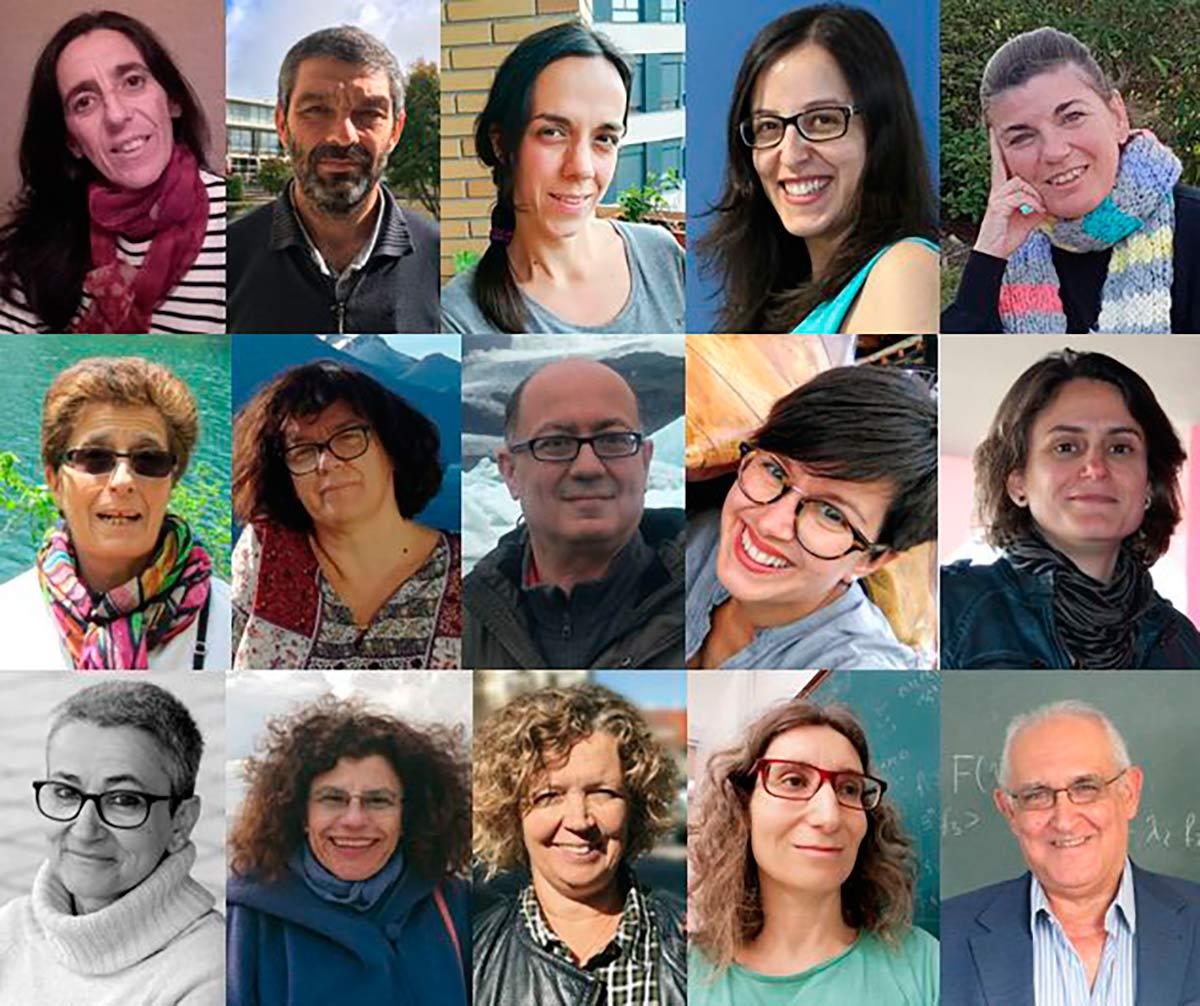 Los quince autores del libro