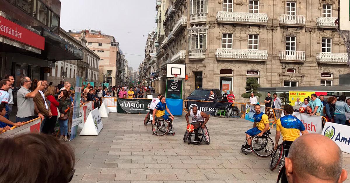 El CD Amfiv instalará una cancha de baloncesto sobre silla de ruedas en el entorno de la Farola // FOTO: CDAMFIV